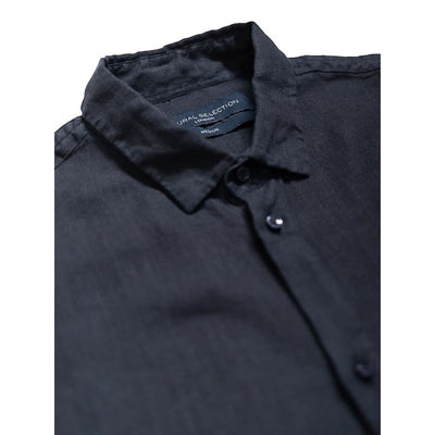 Bombay Shirt In Navy Linen - Shi - Natural Selection London