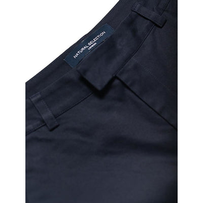 BOXER CHINO in SATEEN NAVY - TRO - Natural Selection London