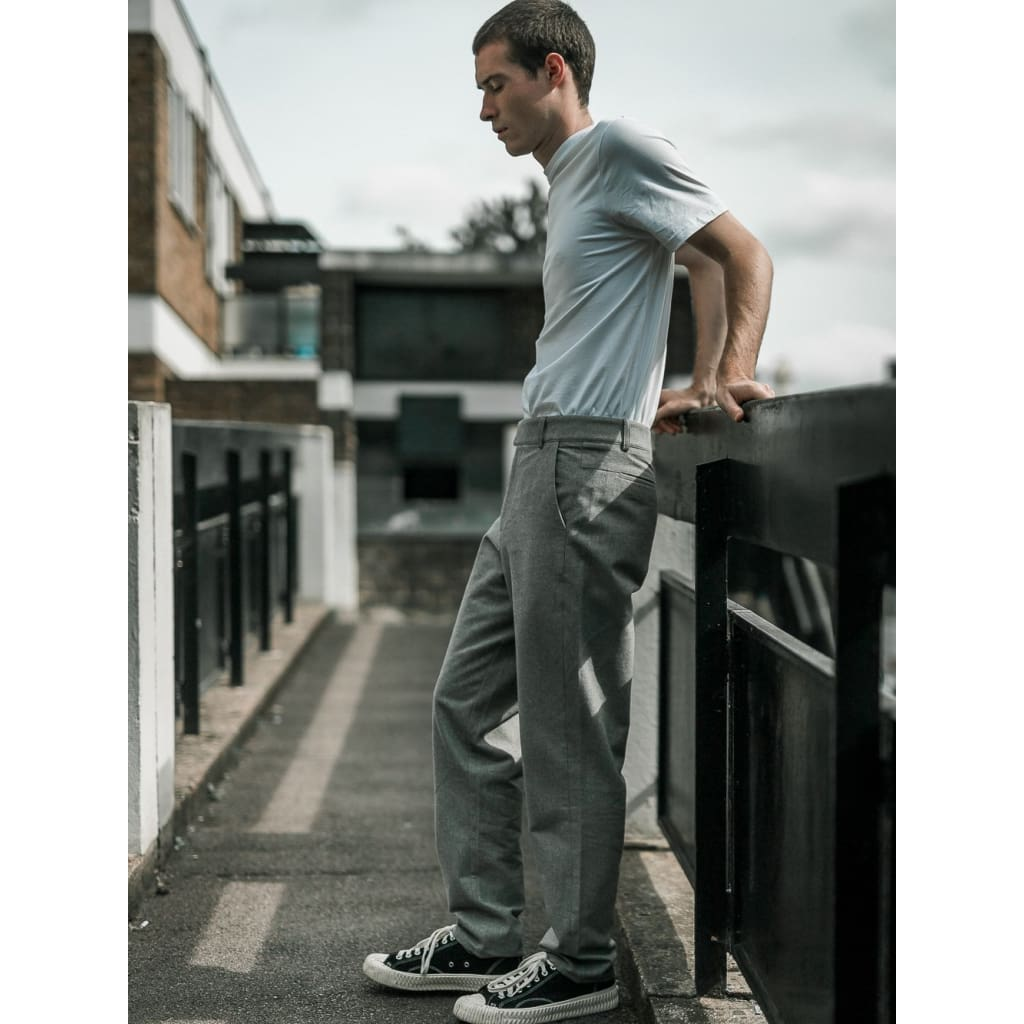BOXER CHINOS in HEATHER FLANNEL - TRO - Natural Selection London