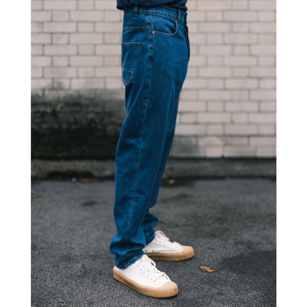 BOXER JEANS in ORGANIC PACIFIC WASH - JEA - Natural Selection London