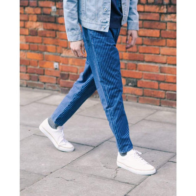 BOXER JEANS in PINSTRIPE DENIM 2 - JEA - Natural Selection London