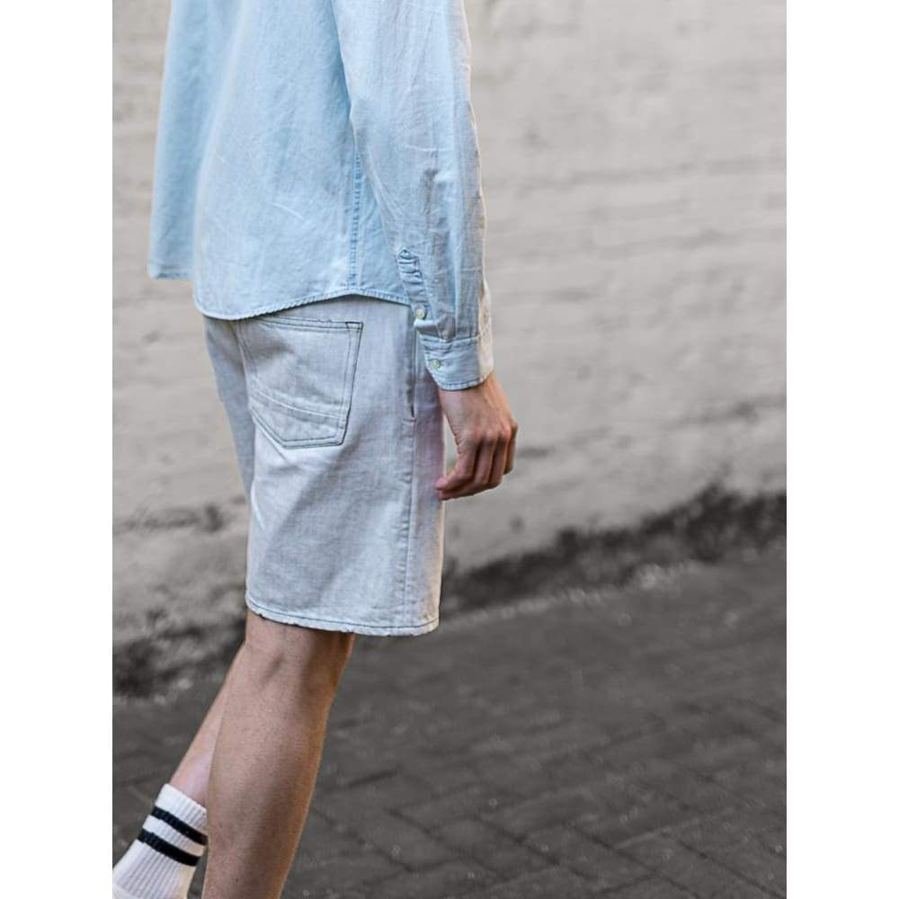 Denim Shorts In Ecru Denim - Sho - Natural Selection London