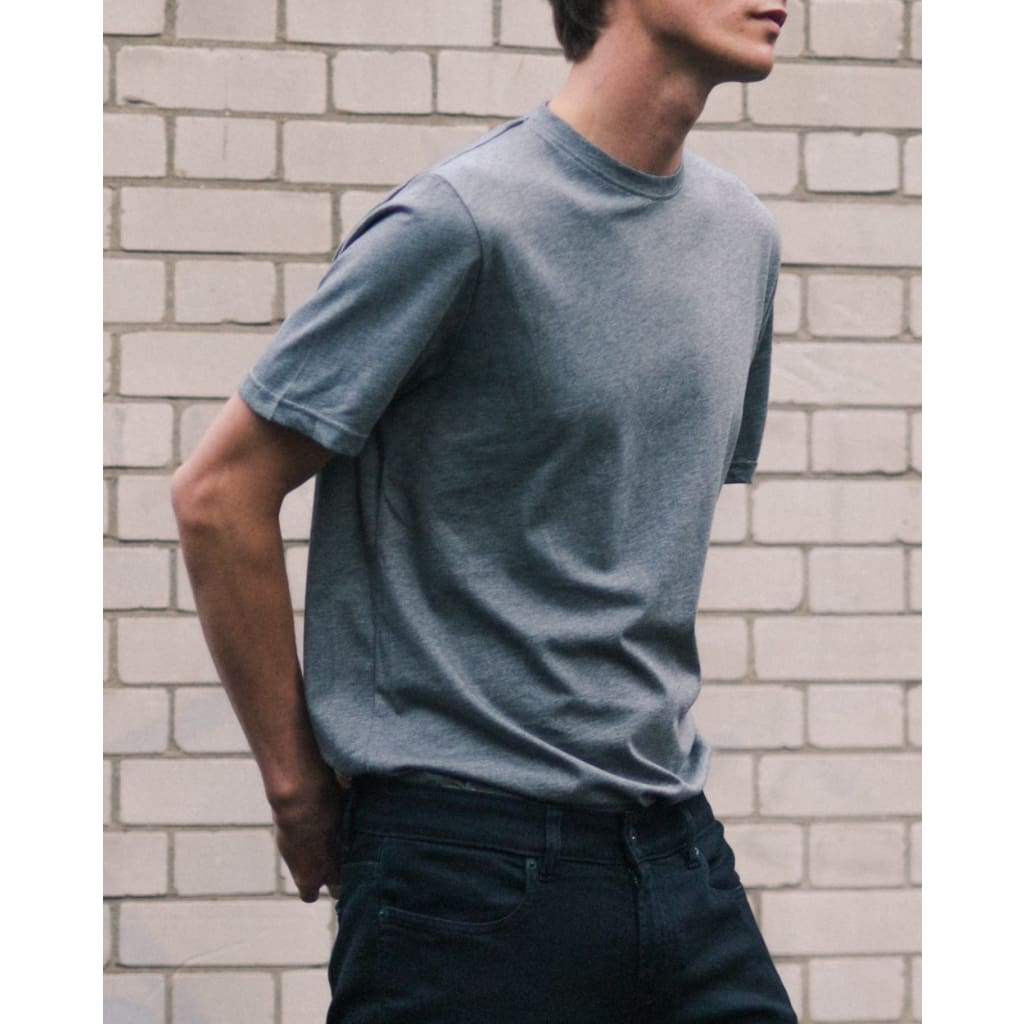 JOSEPH TEE in SUPIMA CHARCOAL - TEE - Natural Selection London