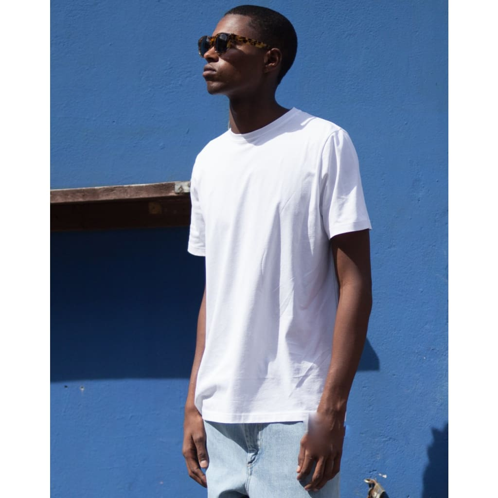 JOSEPH TEE in SUPIMA WHITE - TEE - Natural Selection London