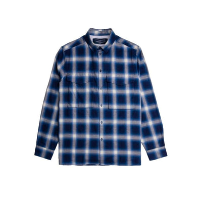 Lambeth Shirt In Blue Ombre Check - Shi - Natural Selection London