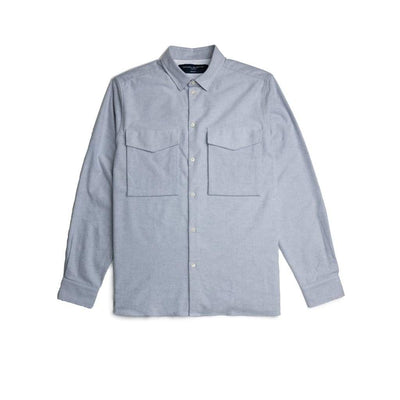 Lambeth Shirt In Grey Flannel - Shi - Natural Selection London