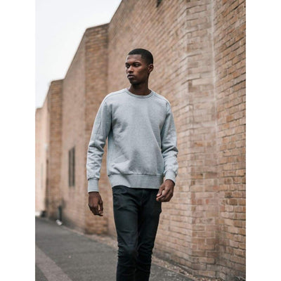 Linear Crew Sweat In Grey - Swe - Natural Selection London