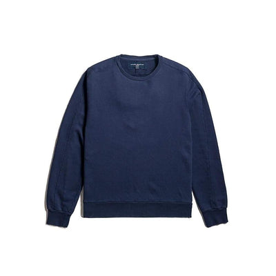 Linear Crew Sweat In Navy - Swe - Natural Selection London