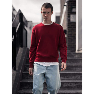 Linear Crew Sweat In Ochre Sweat - Swe - Natural Selection London