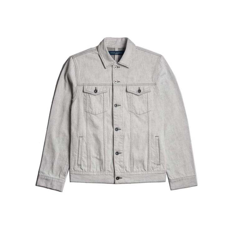 Livingstone Jacket In Ecru Denim - Jkt - Natural Selection London