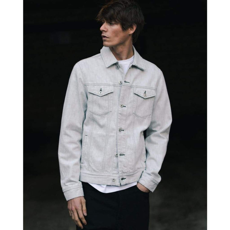 LIVINGSTONE JACKET in ECRU DENIM