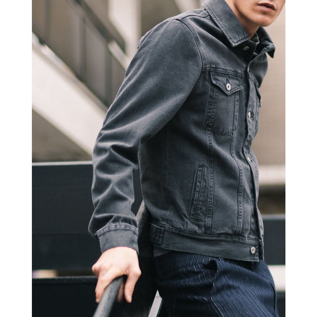 LIVINGSTONE JACKET in ORGANIC GRAPHITE WASH - JKT - Natural Selection London