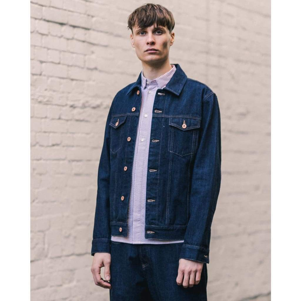 LIVINGSTONE JACKET in SELVEDGE RINSE - JKT - Natural Selection London