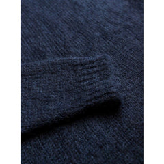 Mohair Crew Knit In Navy Mohair - Kni - Natural Selection London
