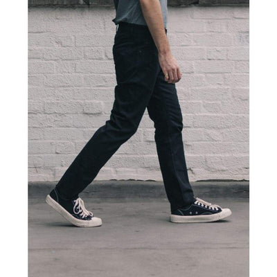 NARROW JEANS in BLACK DENIM - JEA - Natural Selection London