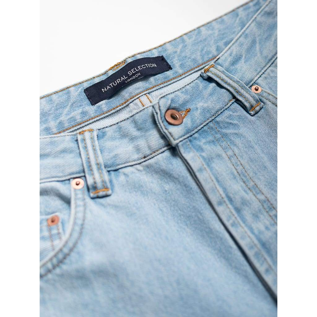 Narrow Jeans In Selvedge Arctic - Jea - Natural Selection London