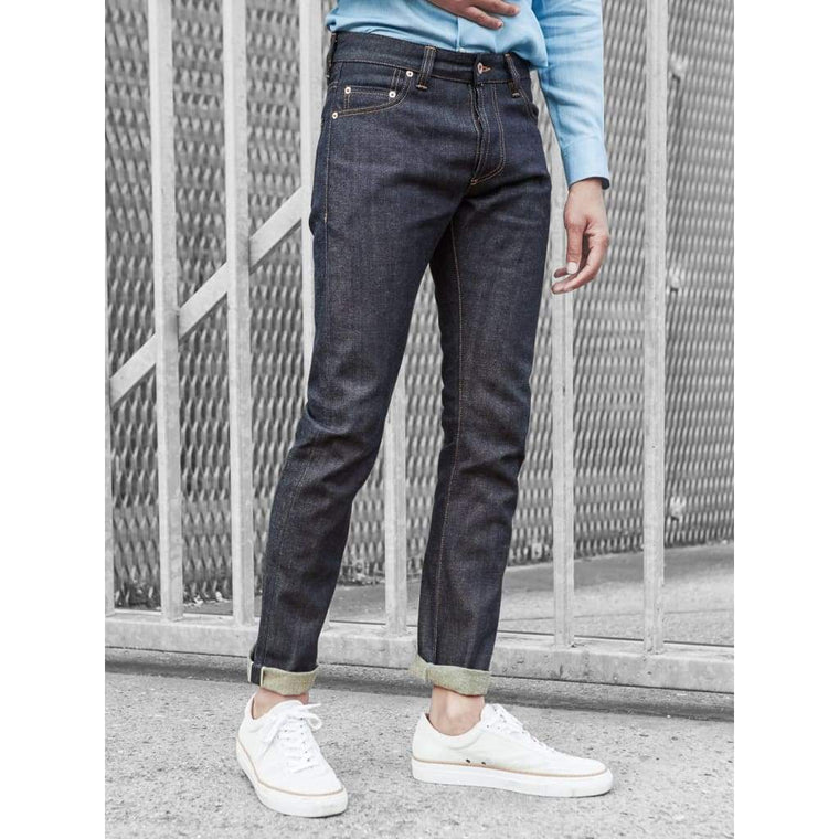 NARROW JEANS in SELVEDGE RAW