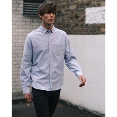 POCKET SHIRT in GREY FLANNEL - SHI - Natural Selection London