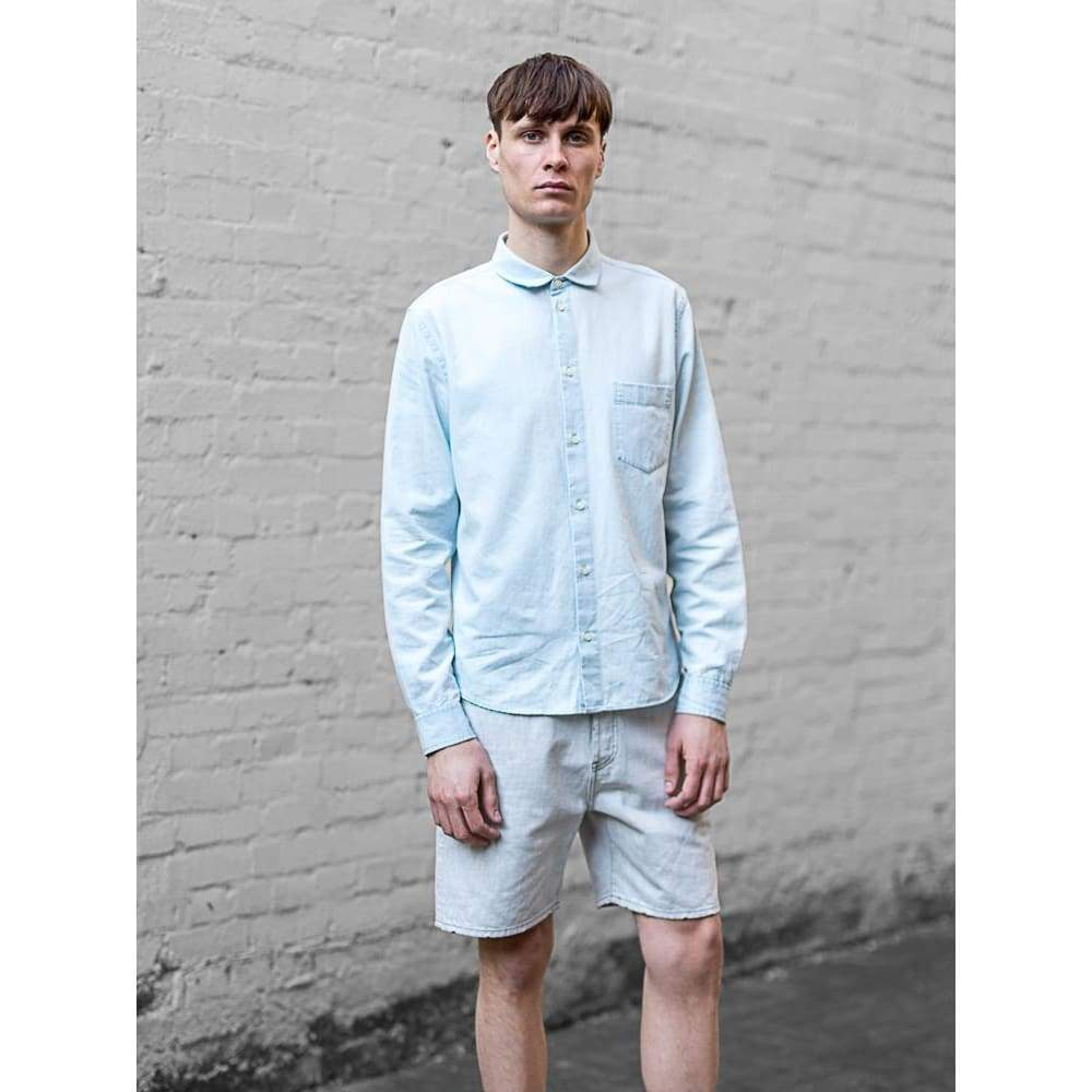 POCKET SHIRT in PALE INDIGO - SHI - Natural Selection London