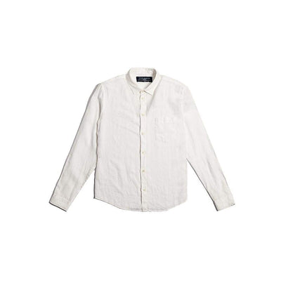 POCKET SHIRT in WHITE LINEN - SHI - Natural Selection London