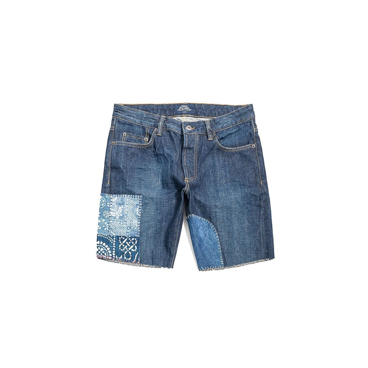 Reworked Denim Cut-Offs In Selvedge Rinse - Sho - Natural Selection London