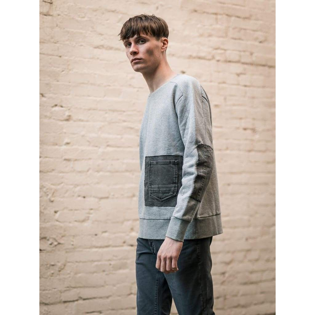 Reworked Linear Sweat In Grey - Swe - Natural Selection London