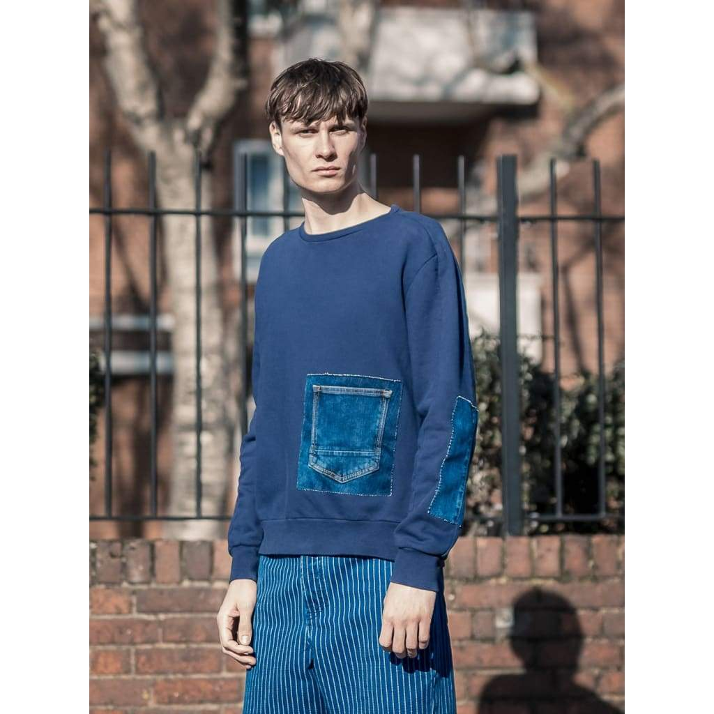Reworked Linear Sweat In Navy - Swe - Natural Selection London
