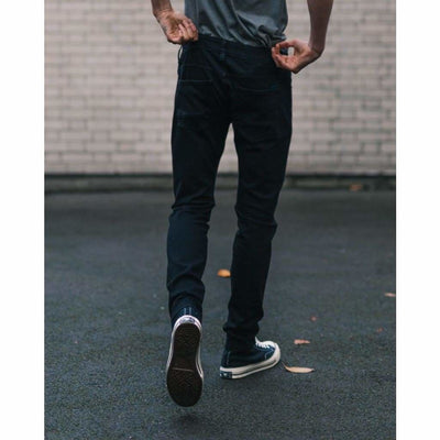SKINNY JEANS in ORGANIC STRETCH BLACK - JEA - Natural Selection London