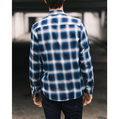 SLATE SHIRT in BLUE OMBRE CHECK - SHI - Natural Selection London