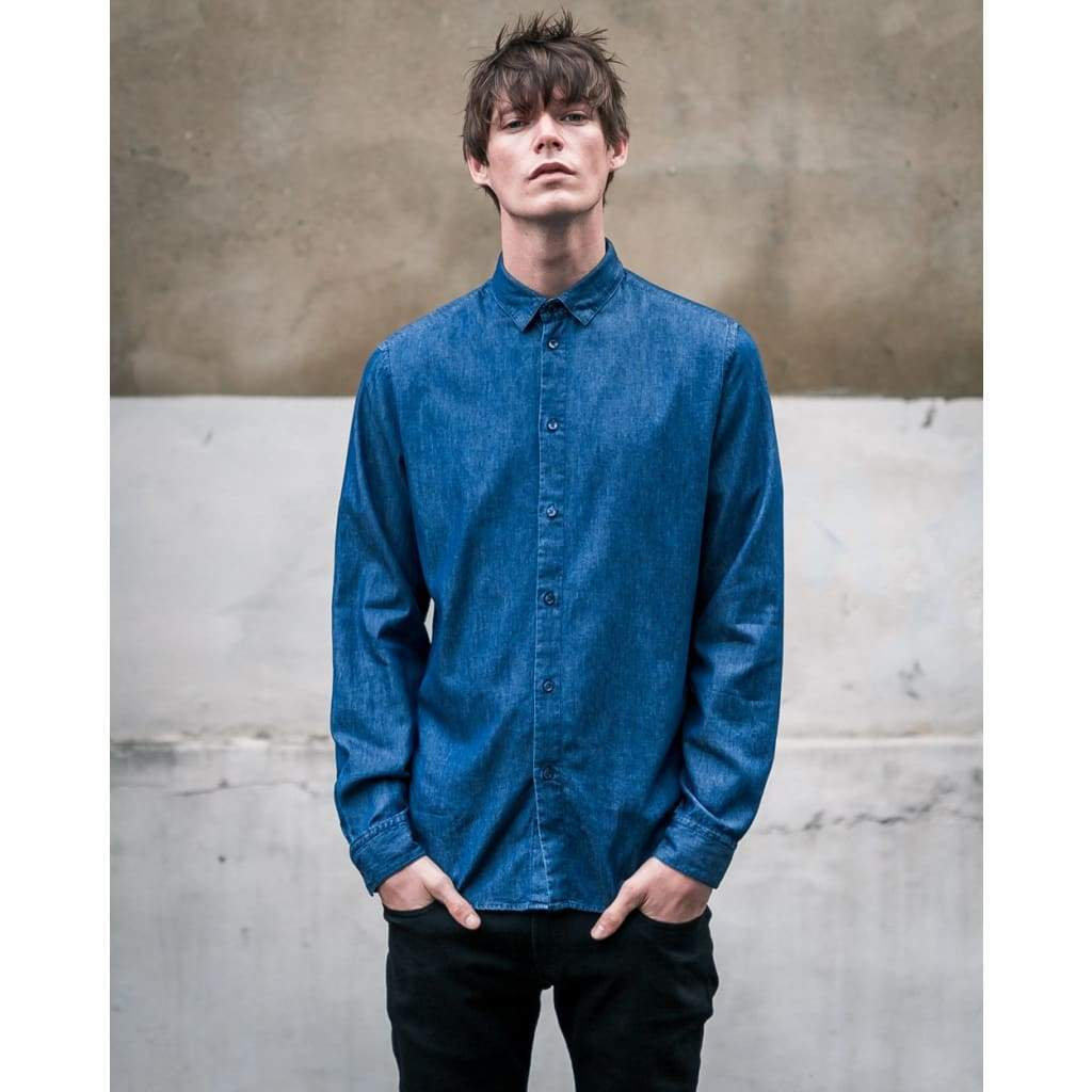 SLATE SHIRT in MID INDIGO - SHI - Natural Selection London