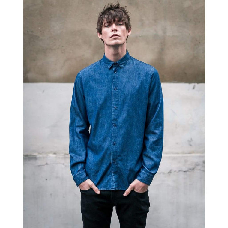 SLATE SHIRT in MID INDIGO