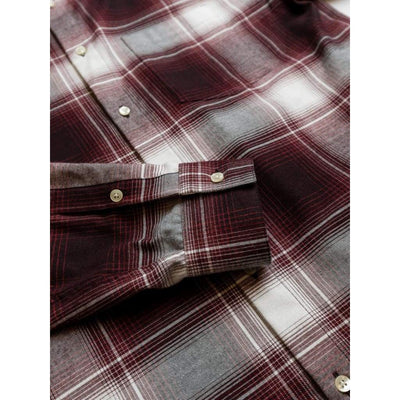 Slate Shirt In Red Large Check - Shi - Natural Selection London