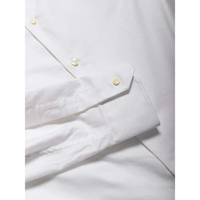 Slate Shirt In White Oxford - Shi - Natural Selection London