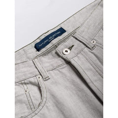 Straight Jeans In Ecru Denim - Jea - Natural Selection London