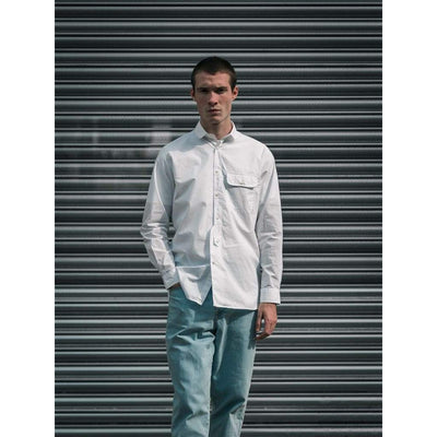 STUDIO SHIRT in WHITE POPLIN - SHI - Natural Selection London