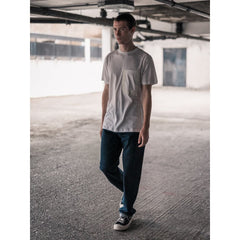 Taped Pocket Tee In Supima White - Tee - Natural Selection London