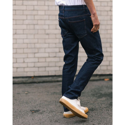 TAPER JEANS in ORGANIC STRETCH RINSE - JEA - Natural Selection London