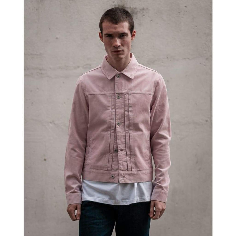 TYPE 2 JACKET in DUSTY PINK NEEDLE CORD
