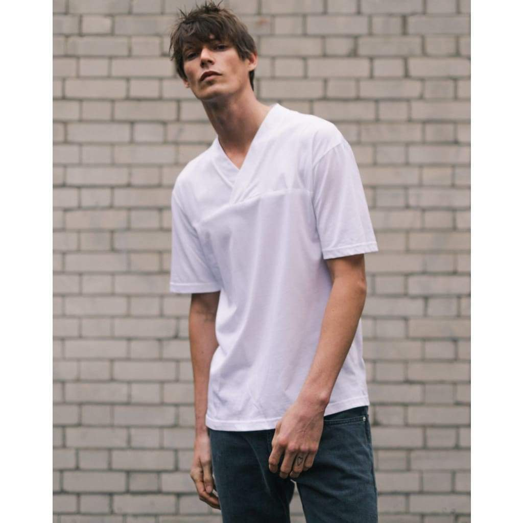 VEEJAY TEE in SUPIMA WHITE - TEE - Natural Selection London