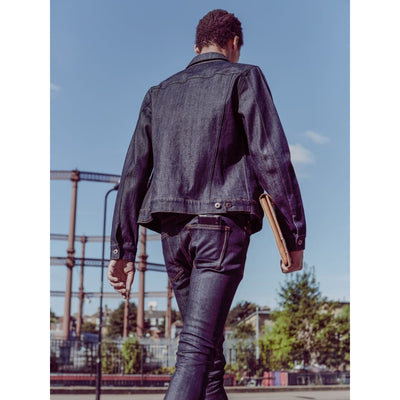Wells Jacket In Raw Denim - Jkt - Natural Selection London