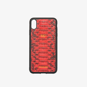 COQUE IPHONE XR PYTHON ROUGE