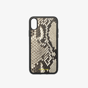 COQUE IPHONE XR PYTHON NATUREL ÉCAILLES