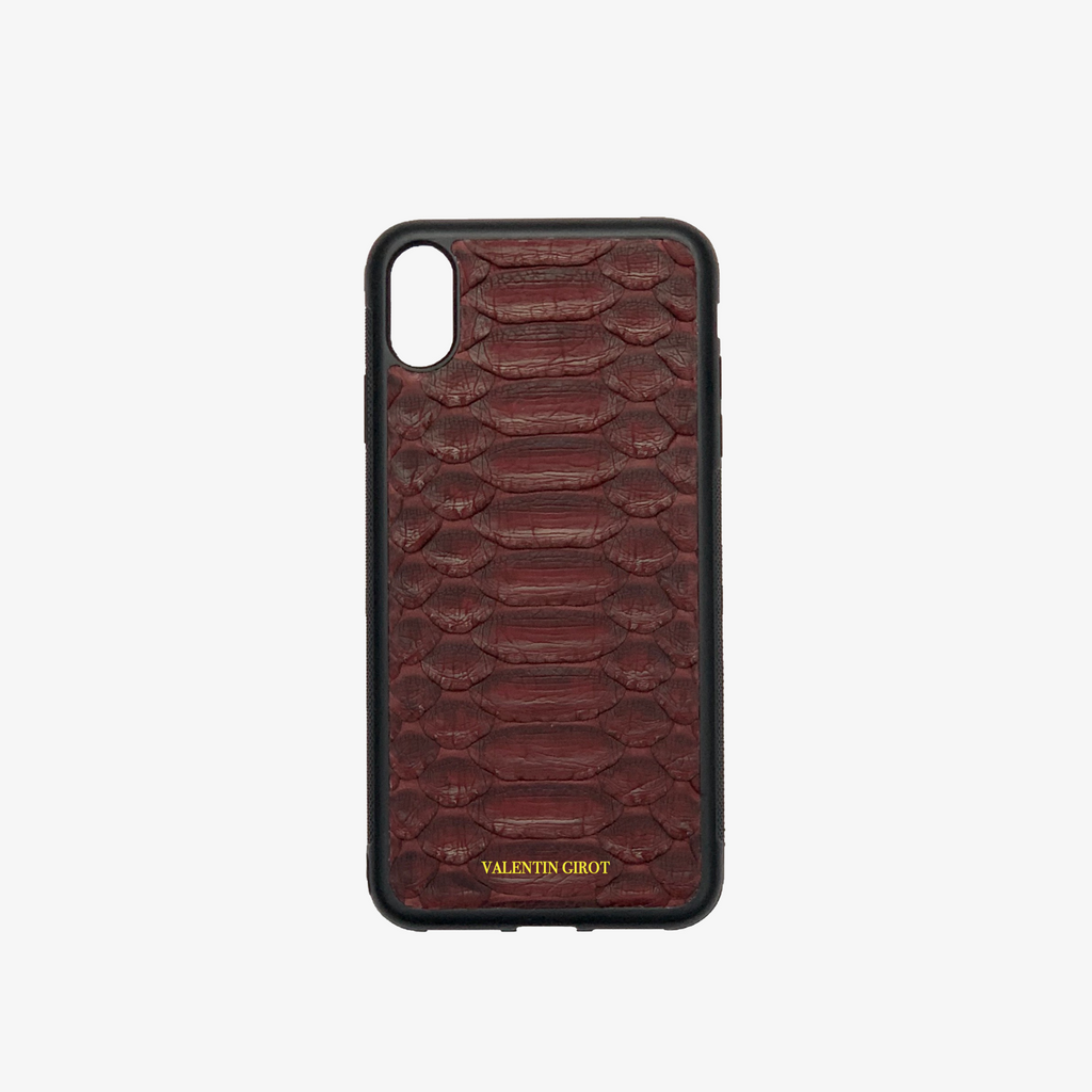 COQUE IPHONE XR PYTHON BORDEAUX