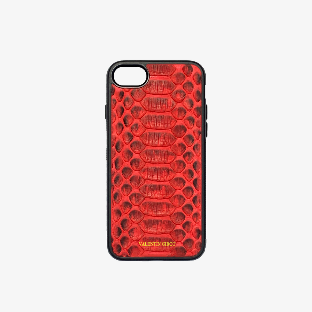 COQUE IPHONE 7/8 PYTHON ROUGE