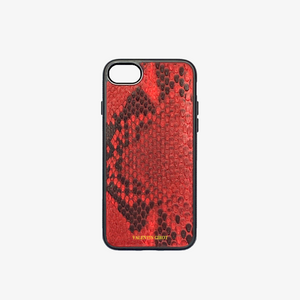 COQUE IPHONE 7/8 PLUS PYTHON ROUGE ÉCAILLES