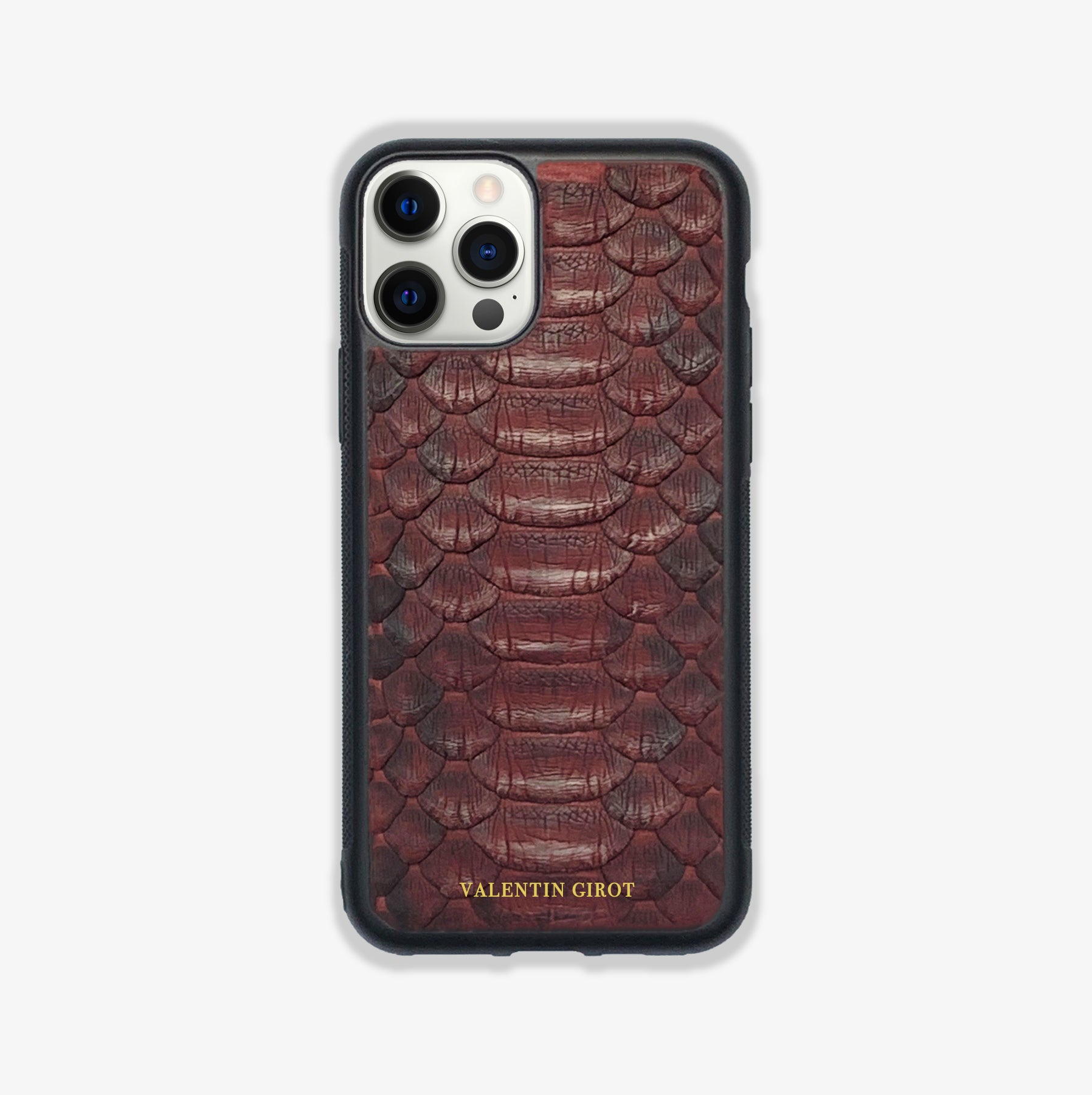 COQUE IPHONE 12 PRO BORDEAUX