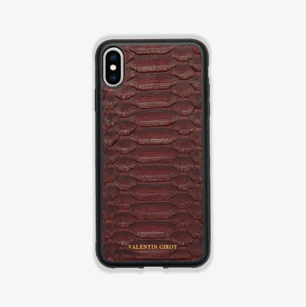 COQUE IPHONE X/XS BORDEAUX