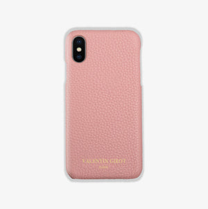 Coque pour iPhone Xs max en cuir rose, France