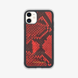 COQUE IPHONE 12 MINI ROUGE ÉCAILLES