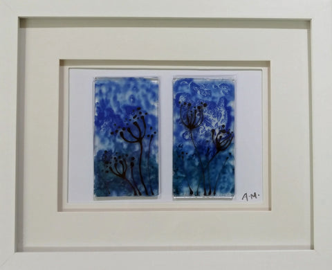 Cow Parsley Glass Diptych